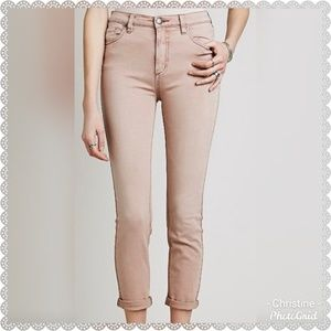*Free People Dusty Rose Skinny Pants*